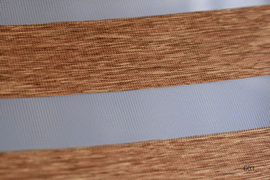 China Wood Look Zebra Blinds fabric for Interior Decoration supplier
