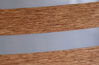 Wood Look Zebra Blinds fabric for Interior Decoration